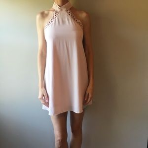 LULU'S Any Sway, Shape or Form Blush Lace Halter!
